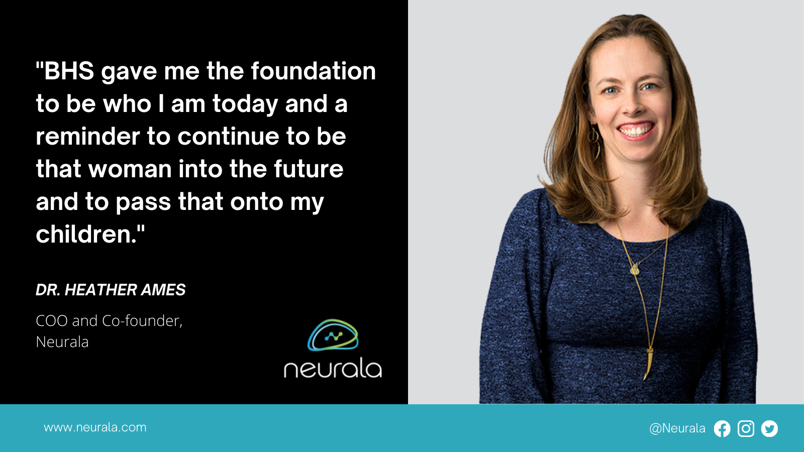 Neurala Co-Founder and COO Heather Ames honored by High School