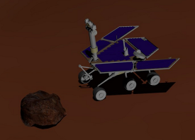 How robots estimate motion in a Mars virtual environment