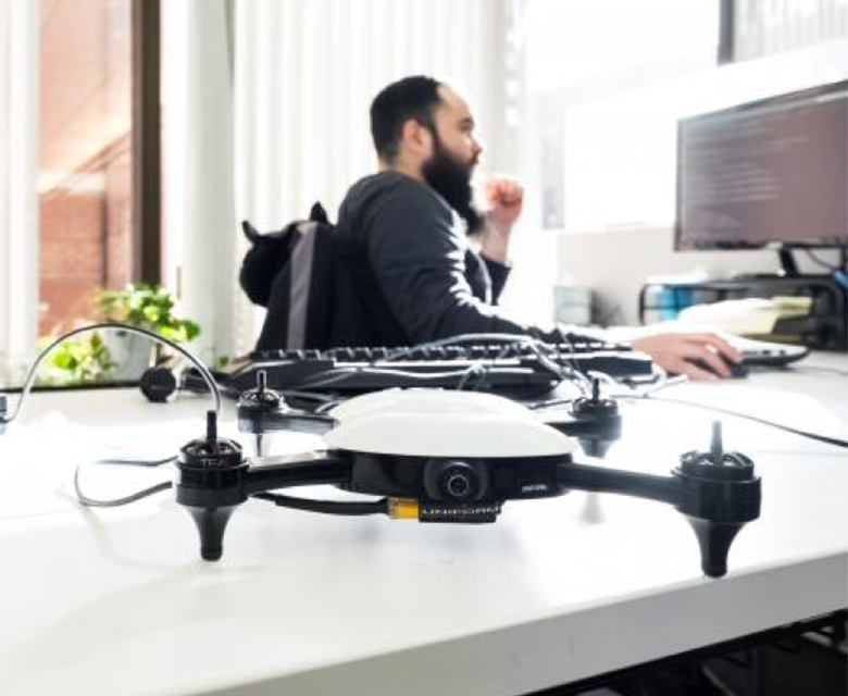 Neurala AI Drone in the Office